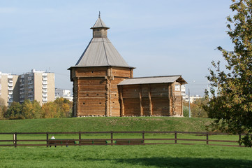 Moscow, Russia, Kolomenskoye. Wooden church