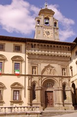 The gothic palace of the lay fraternity in Arezzoin Italy