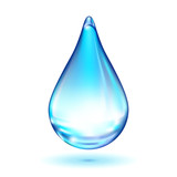 Vector water drop poster