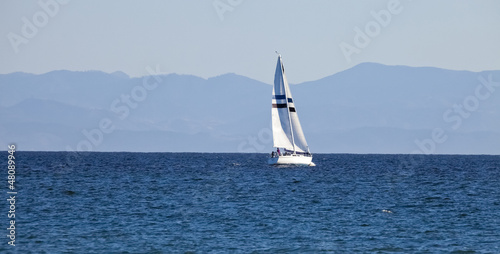 The Sailboat on the Sea
