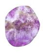Mineralien: Amethyst Trommelstein weißem Hintergrund
