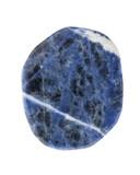Mineralien: Sodalith auf weißem Hintergrund