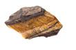 Mineralien: Tigerauge auf weißem Hintergrund