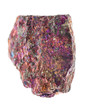 Mineralien: Buntkupfer auf weißem Hintergrund