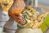 The Hanuman mask was prepare for perform on Ramayana drama. poster