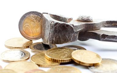Euro in der Zange © Matthias Buehner