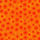 Fototapety Blumen Muster Orange