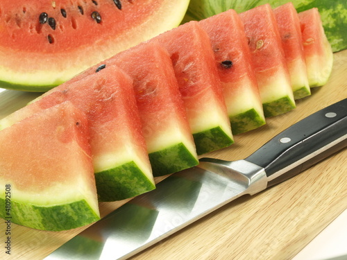 Watermelon in slices