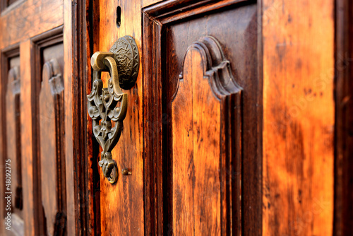 Brass gate with door knocker istanbul Turkey