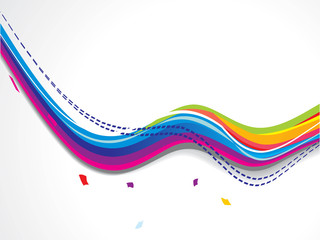 abstract colorfull smooth wave background