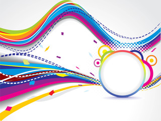 abstract colorfull wave background