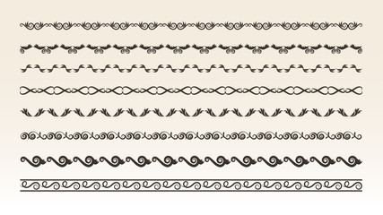 Decorative border elements for design vector illustration