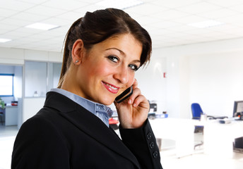 Businesswoman talking on the cell phone