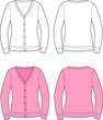 Vector illustration of women's cardigan
