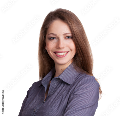 Young woman with a charming smile