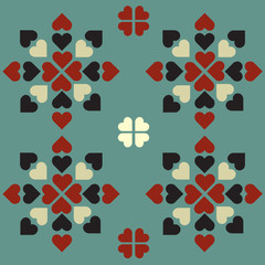 symmetrical heart pattern