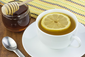 tea lemon and honey
