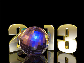 2013 New Year Disco Ball