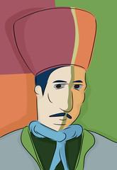 Abstract Turkish Muslim Man