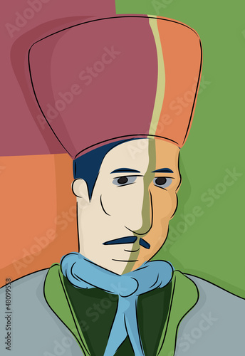Abstract Turkish Muslim Man