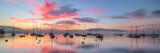 Sunrise and Sailboats