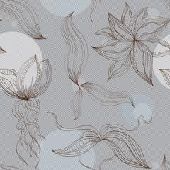 Бесшовный узор с цветами