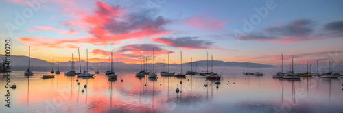 Sunrise and Sailboats - 48100920