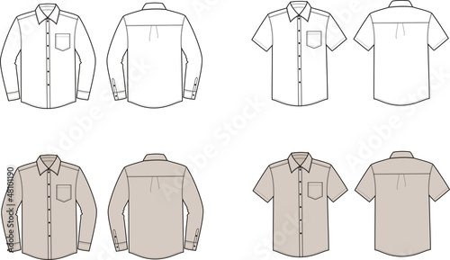 Vector illustration of men's business shirts - 48101190