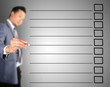 Business man designed checklist