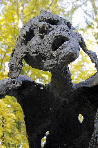 Poster Skulptur Prophet von Wilfried Koch im Skulpturenpark Rietberg
