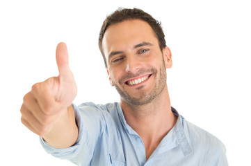 Young Man Showing Thumb Up