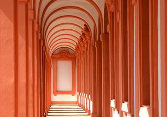 Arkaden des Barockschlosses Rastatt, Baden-Württemberg