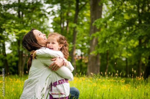 Mother and child - happy time