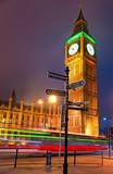 The Big Ben at night, London, UK.