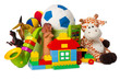 children toys isolated on white - 48106748