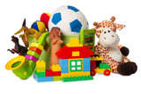 Fototapety children toys isolated on white