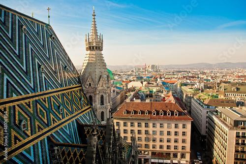 Fotobehang Wenen Blick vom Stephansdom