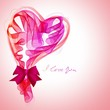 Beautiful Valentine's background with abstract pink and red hear