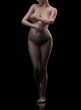 Pregnant woman anterior view cgi poster
