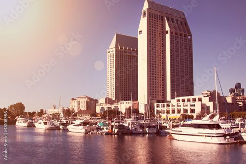 san diego harbor during evening sun