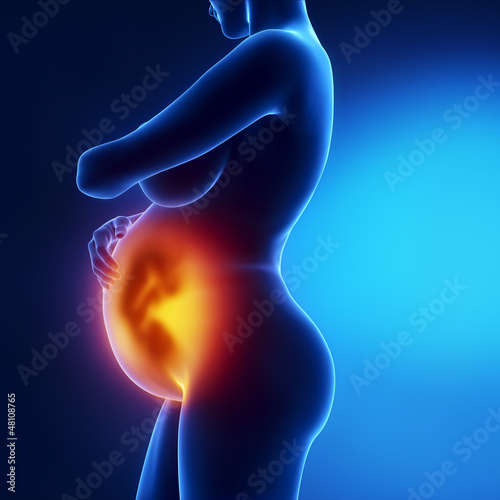 Pregnant woman with visible fetus