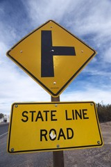 state line road sign