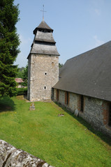 the historical church of Rosay sur lieure in Eure