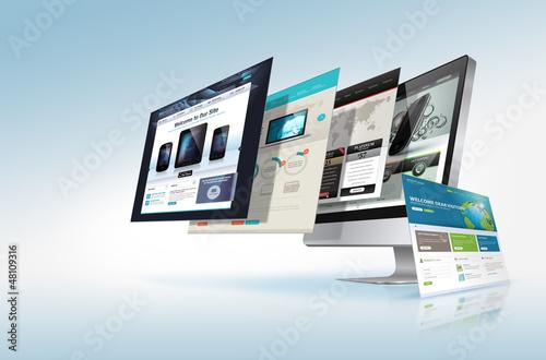 Leinwandbild Motiv Web design concept