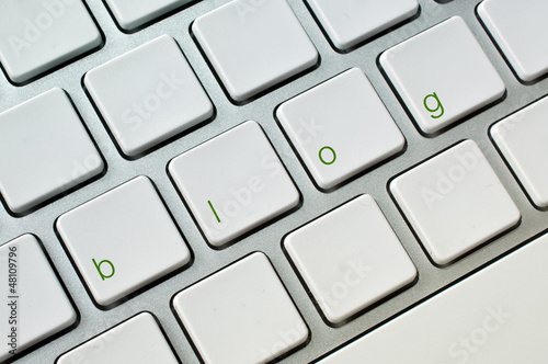 Blog computer keyboard