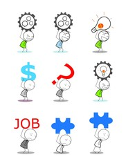 businessman lift idea money