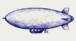 Dirigible. Doodle style - 48110545