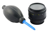 Isolated lens cleaning kit