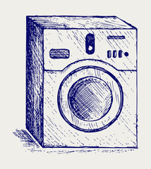 Washing machine. Doodle style