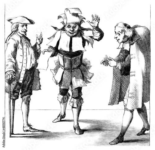 3 men - Caricature - 17th century
